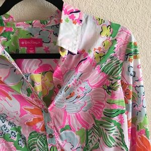 Lilly Pulitzer for Target Nosey Posey Button Up